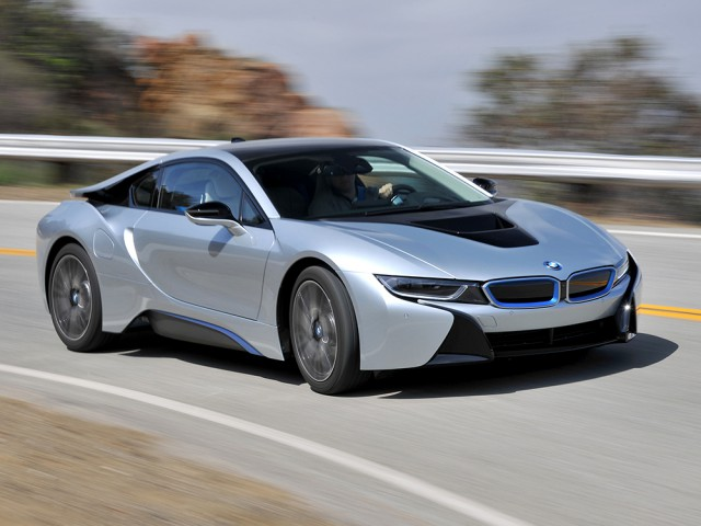 bmw i8 on road